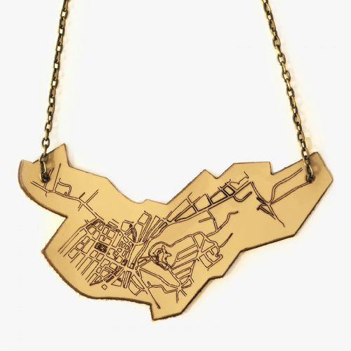 Plan Abstract Necklace